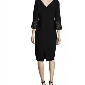 Lafayette 148 New York Womens Bell Sleeves Dress